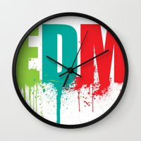 edm Wall Clocks featuring EDM Lover by DropBass
