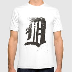 Detroit White Mens Fitted Tee SMALL