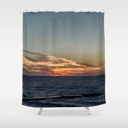 Summer sunset on lake Ontario Shower Curtain