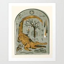 Under the Live Oak Art Print