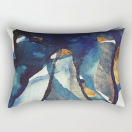 Cobalt Abstract Rectangular Pillow
