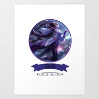 league of legends Art Prints featuring League Of Legends - Diana by TheDrawingDuo