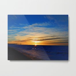 Sun and Sea on last day on winter Metal Print