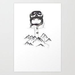 Mountain Girl Art Print