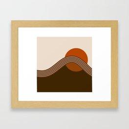 Cocoa Sundown Stripes Framed Art Print