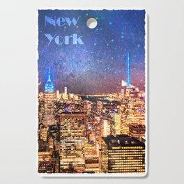 Night Shine - New York (Vertical) Cutting Board