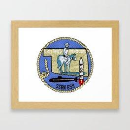 USS WILL ROGERS (SSBN-659) PATCH Framed Art Print