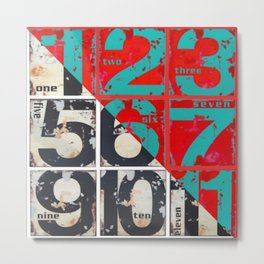 numbers design 3 Metal Print