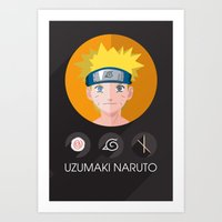 naruto Art Prints featuring naruto by pixel.pwn | AK