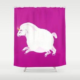 Fat Unicorn Shower Curtain