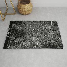 Munich Black Map Rug