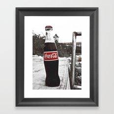 There's always Coke Framed Art Print