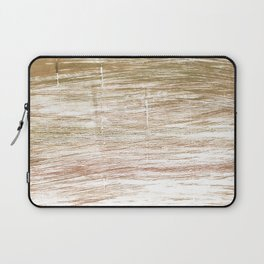 Light taupe abstract watercolor Laptop Sleeve