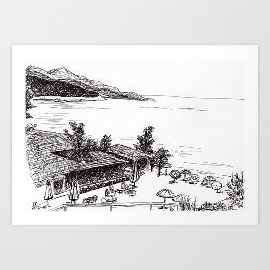 At the Coast Art Print