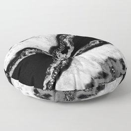 Yin Yang Agate Glitter Glam #4 #gem #decor #art #society6 Floor Pillow