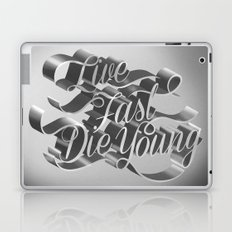 Live Fast Die Young - Black and White Laptop & iPad Skin