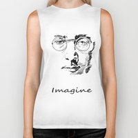 imagine Biker Tanks featuring Imagine by Paul Kimble