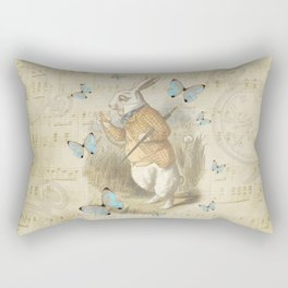 White Rabbit - Alice In Wonderland Rectangular Pillow