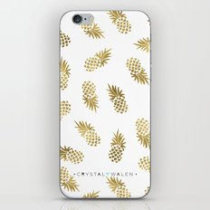 Gold Pineapples iPhone & iPod Skin