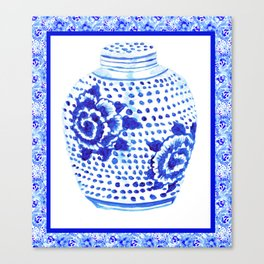 Chinoiserie Ginger Jar No. 1 Canvas Print