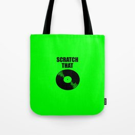 scratch that music logo Tote Bag