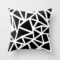 Ab Outline Thicker Black Throw Pillow