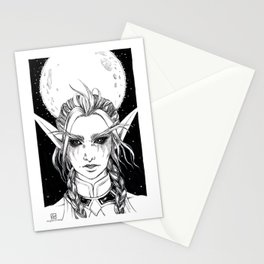 Night Warrior Tyrande Stationery Cards