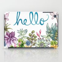 spring iPad Cases featuring hello spring by Brooke Weeber