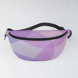 Purple Geometric Circles Fanny Pack