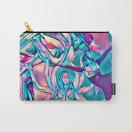 Energy Flow ( Pink Yoga V ) Carry-All Pouch