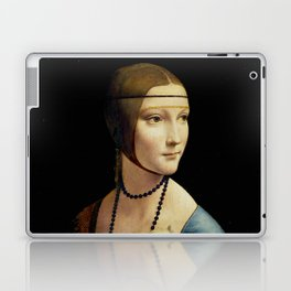 "Leonardo Da Vinci ""Portrait of Cecilia Gallerani (Lady with the Ermine)"" Laptop & iPad Skin"