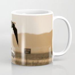 Raven Flying in Sepia Coffee Mug