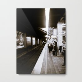 Passengers Wait Metal Print