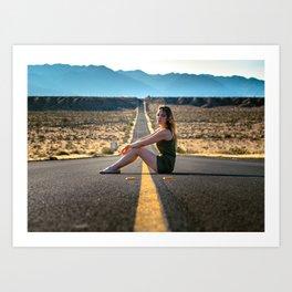 Adventure through the desert Art Print