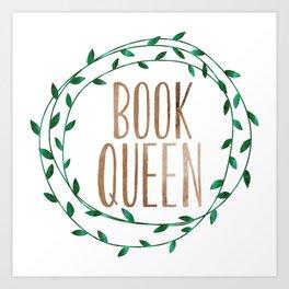 Book Queen Art Print