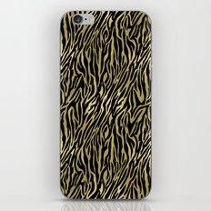 Black Gold Zebra Print iPhone & iPod Skin