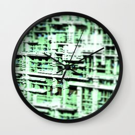 Abstract structure building house modern intricate pattern background Wall Clock