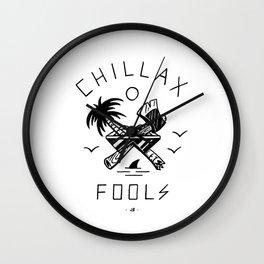Chillax Fools Wall Clock