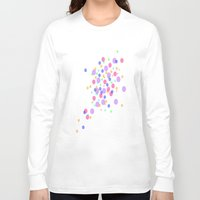 confetti Long Sleeve T-shirts featuring Confetti by DuniStudioDesign