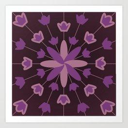 Purple Flower Explosion Art Print