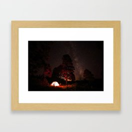 Camping out at Zion National Park's West Rim Trail at about 7,000 feet. Framed Art Print