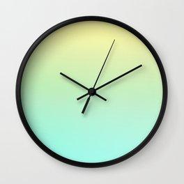 FUZZY DAY - Minimal Plain Soft Mood Color Blend Prints Wall Clock