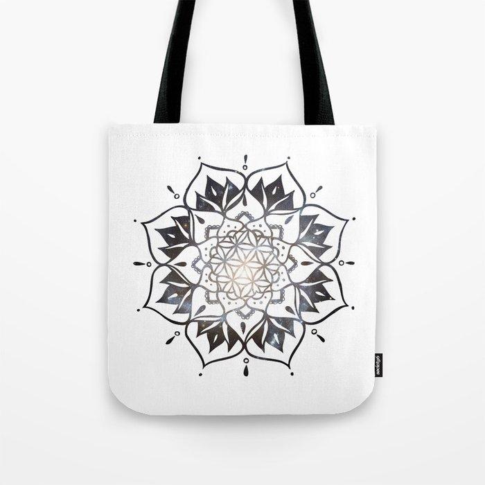 Namaste Nebula Mandala Design Tote Bag