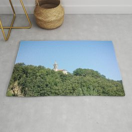 Solitary Church on Hill Top Rug