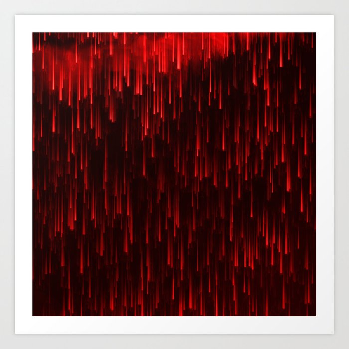 Raining Red Art Print