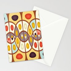 Wavy geometric abstract Stationery Cards
