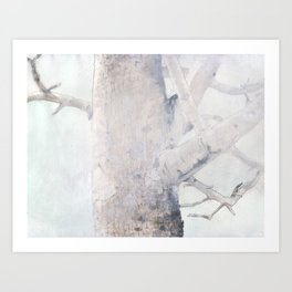 Train Station Tree Art Print