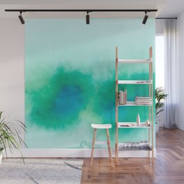 Green Blue Haze Wall Mural