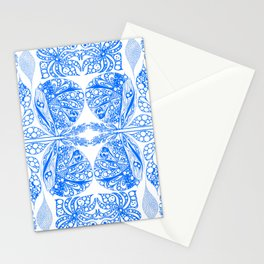 Doodles in blue Stationery Cards