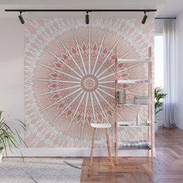 Blush Apricot Mandala Wall Mural